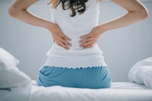 girl back pain