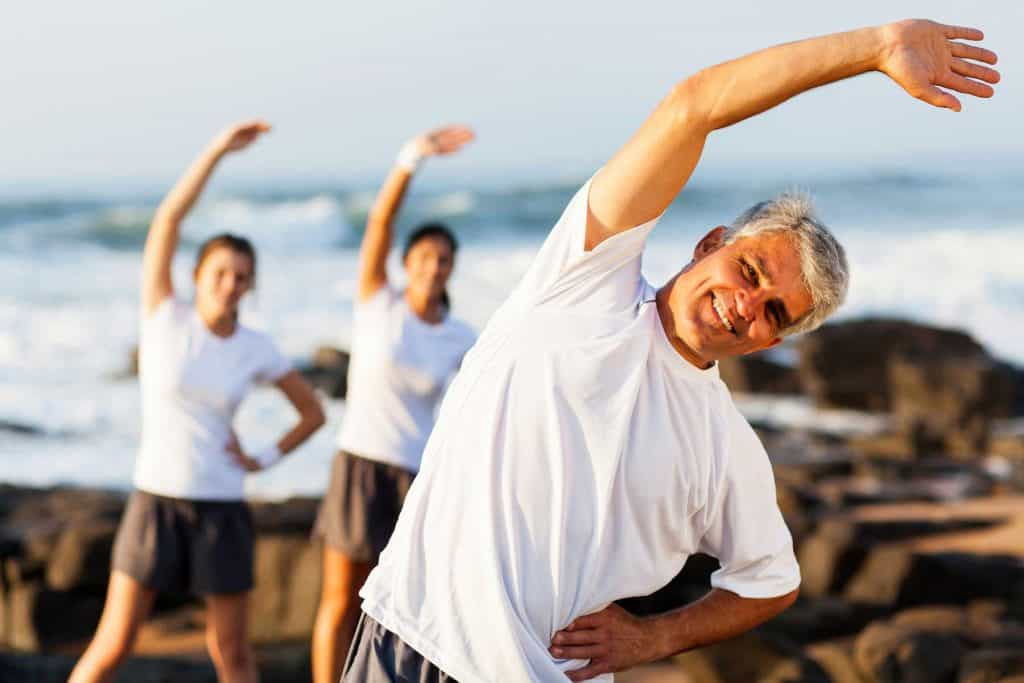 man exercising under the sun