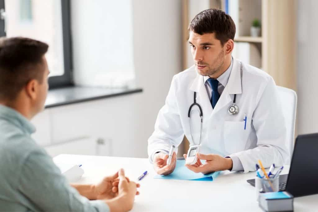 Diabetic patient sees the doctor