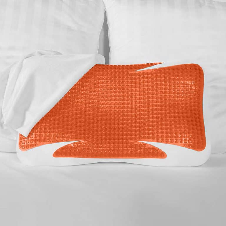 copper contour pillow with sheet