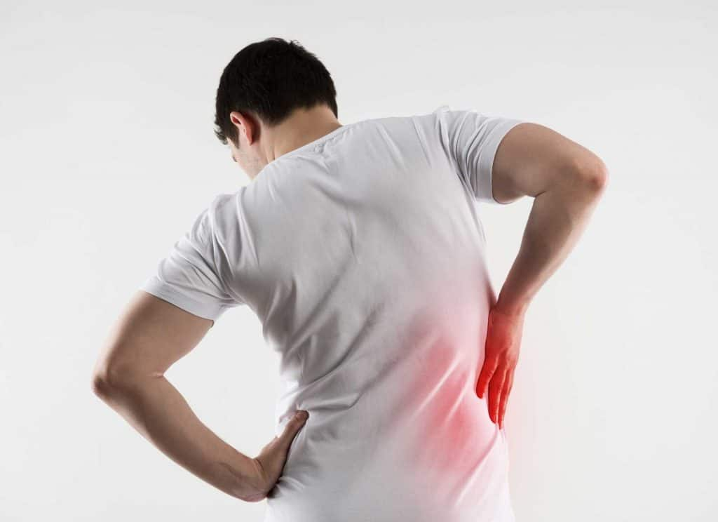back pain due to spinal cord injury
