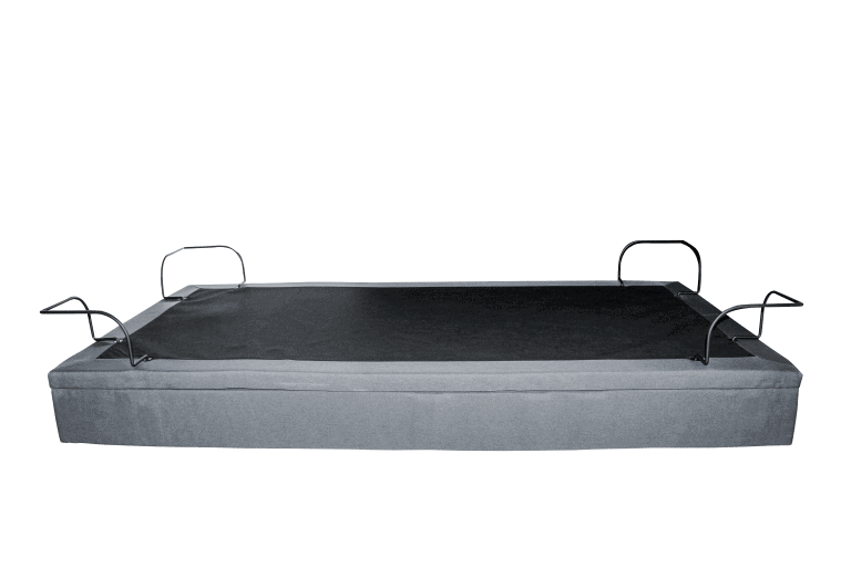 adjustable bed side view flat no mattress
