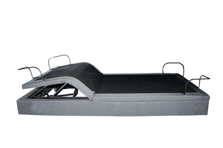 adjustable bed side view with legs up