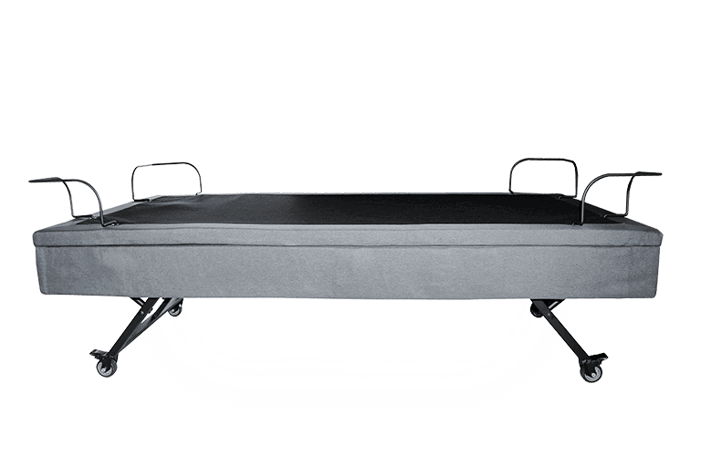 adjustable bed side view with under light
